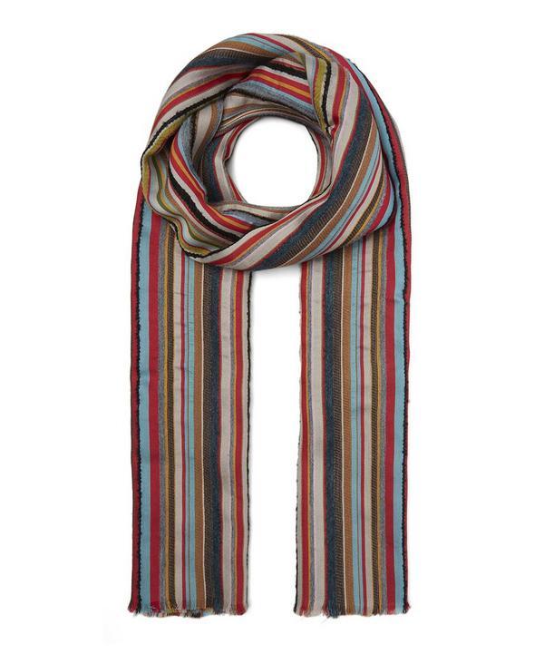 189c77a34 Multi Textured Stripe Scarf ...