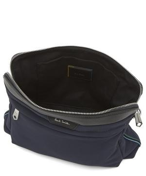 Leather-Trimmed Nylon Cross-Body Bag