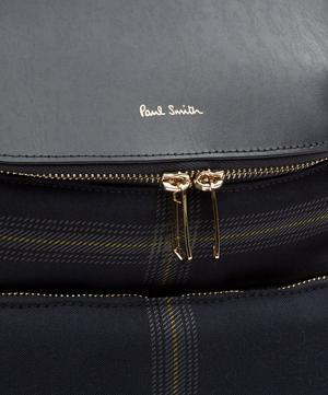 Wool-Blend Check Bucket Backpack