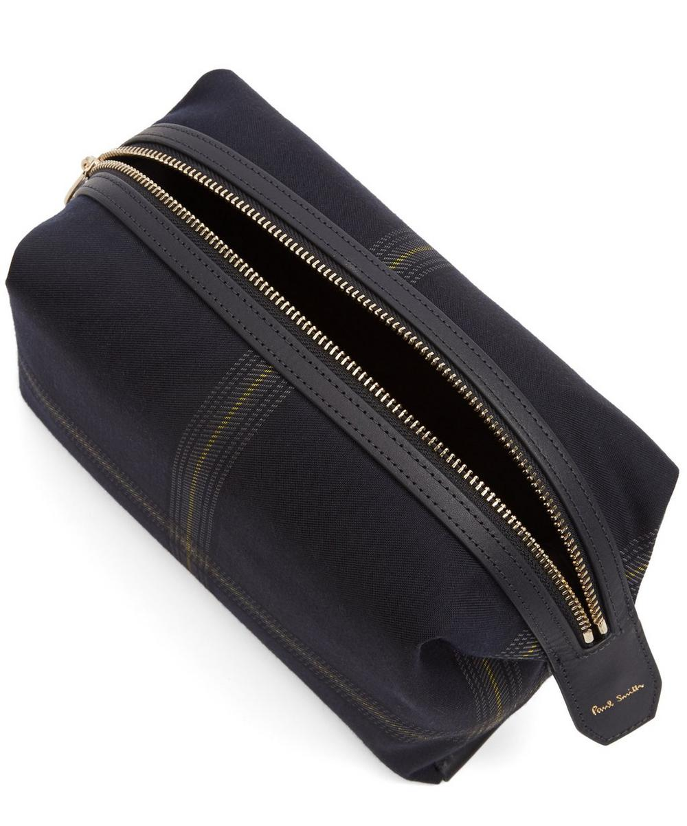Checked Twill Wash Bag