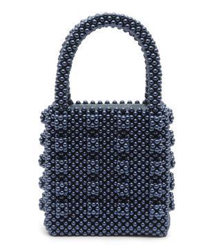 Antonia Faux Pearl Beaded Tote Bag