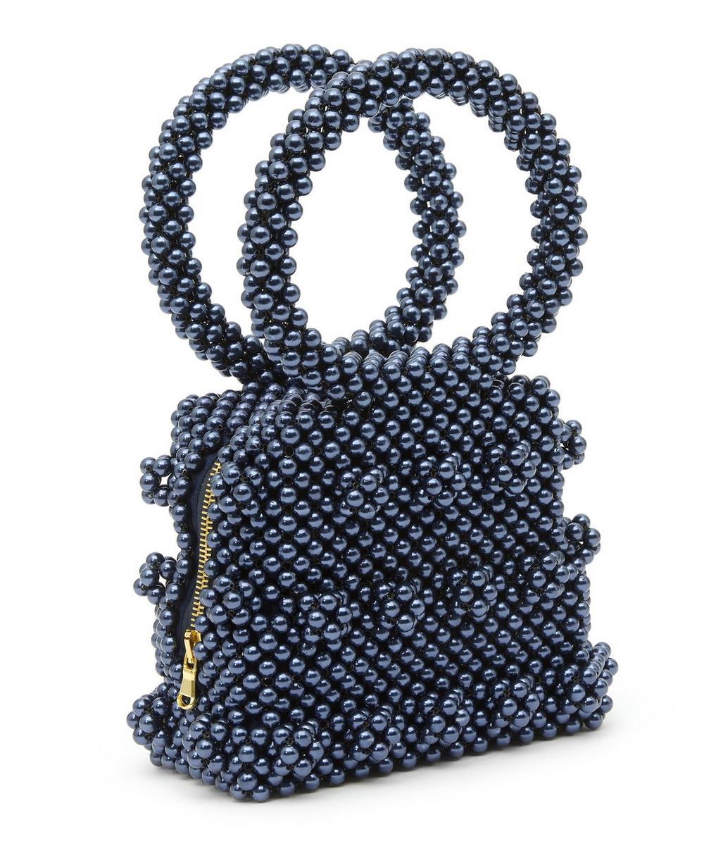Dante Faux Pearl Beaded Handbag