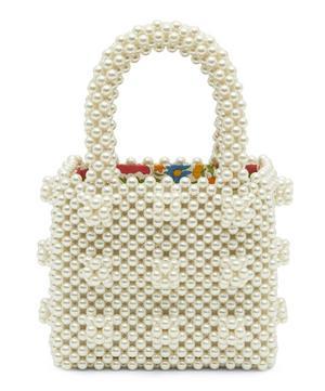x Liberty Mini Faux Pearl Beaded Tote Bag