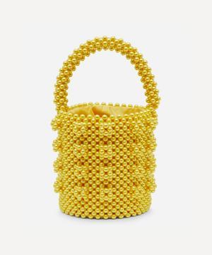 Poppy Faux Pearl Beaded Bucket Bag
