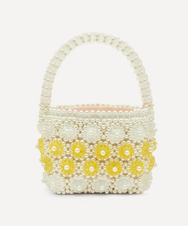 Shelly Faux Pearl Floral Beaded Tote Bag