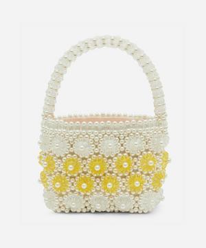 Shelly Faux Pearl Floral Beaded Handbag