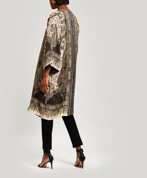 Mid-Length Paisley Silk-Blend Kimono