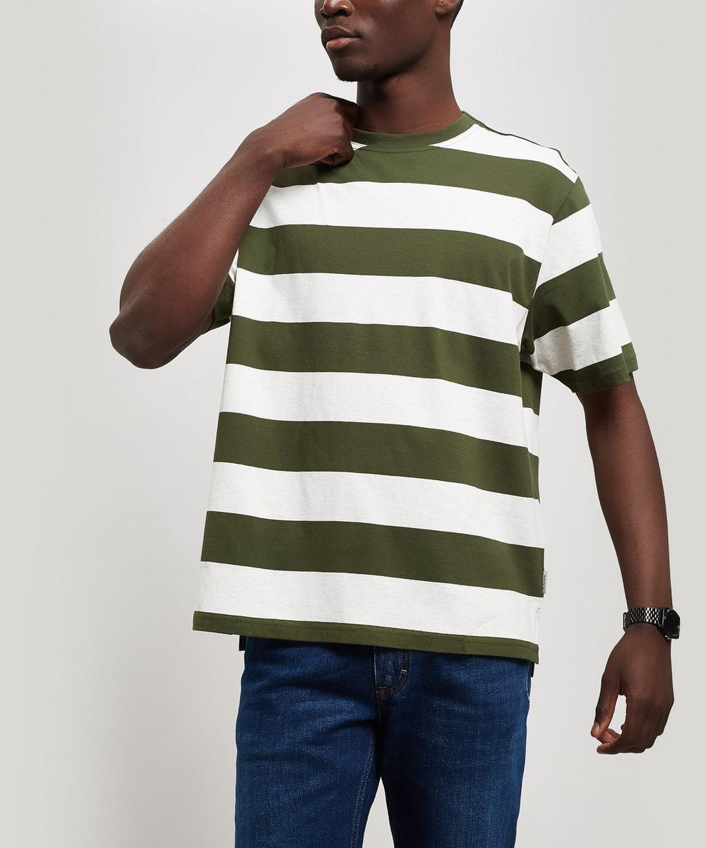 Box Block Stripe Cotton T-Shirt