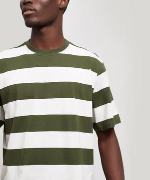 Box Block Stripe Cotton T-Shirt