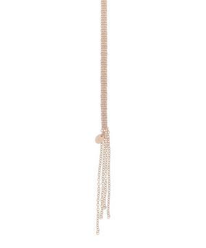 Silver Silk Chain Shawl Necklace