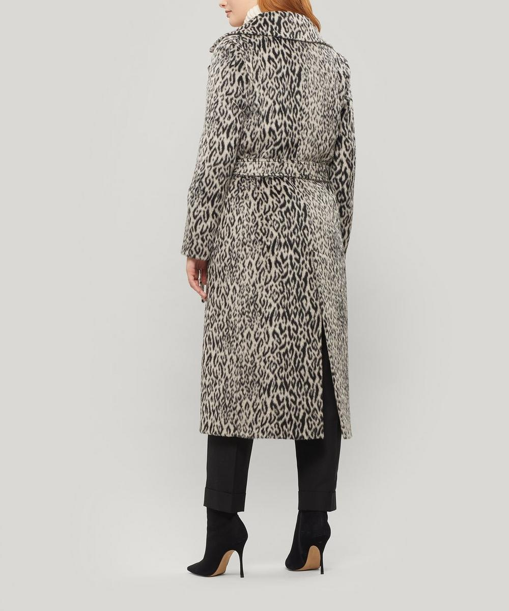 Animalier Belted Long Coat