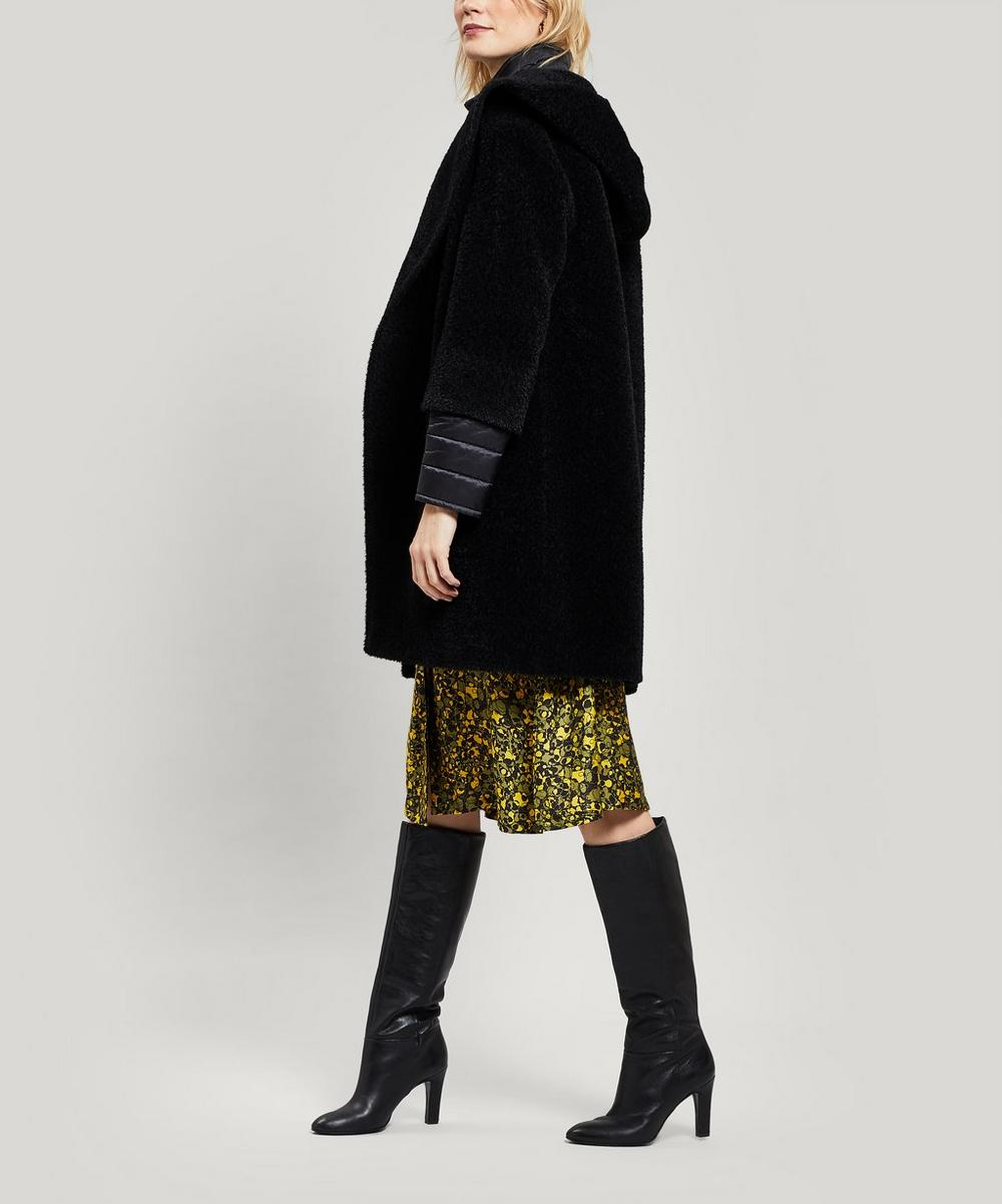 Alpaca-Blend Coat with Puffer Underlay