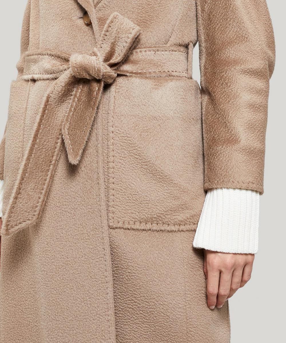 Alpaca-Blend Hooded Wrap-Coat
