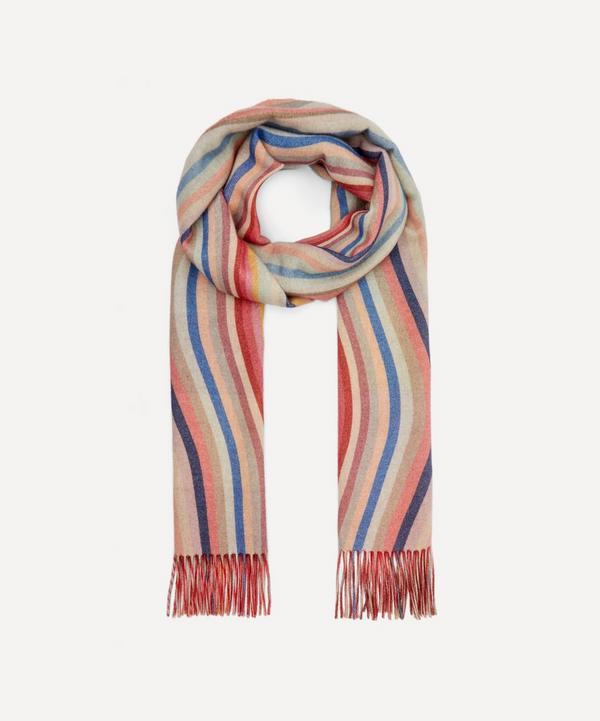 Paul Smith - Swirl Stripe Reversible Wool Scarf