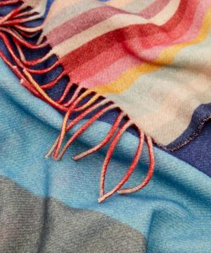 Swirl Stripe Reversible Wool Scarf