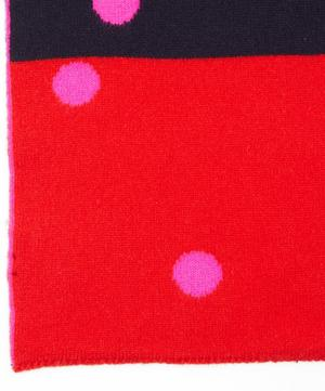 Polka Dot Wool Scarf