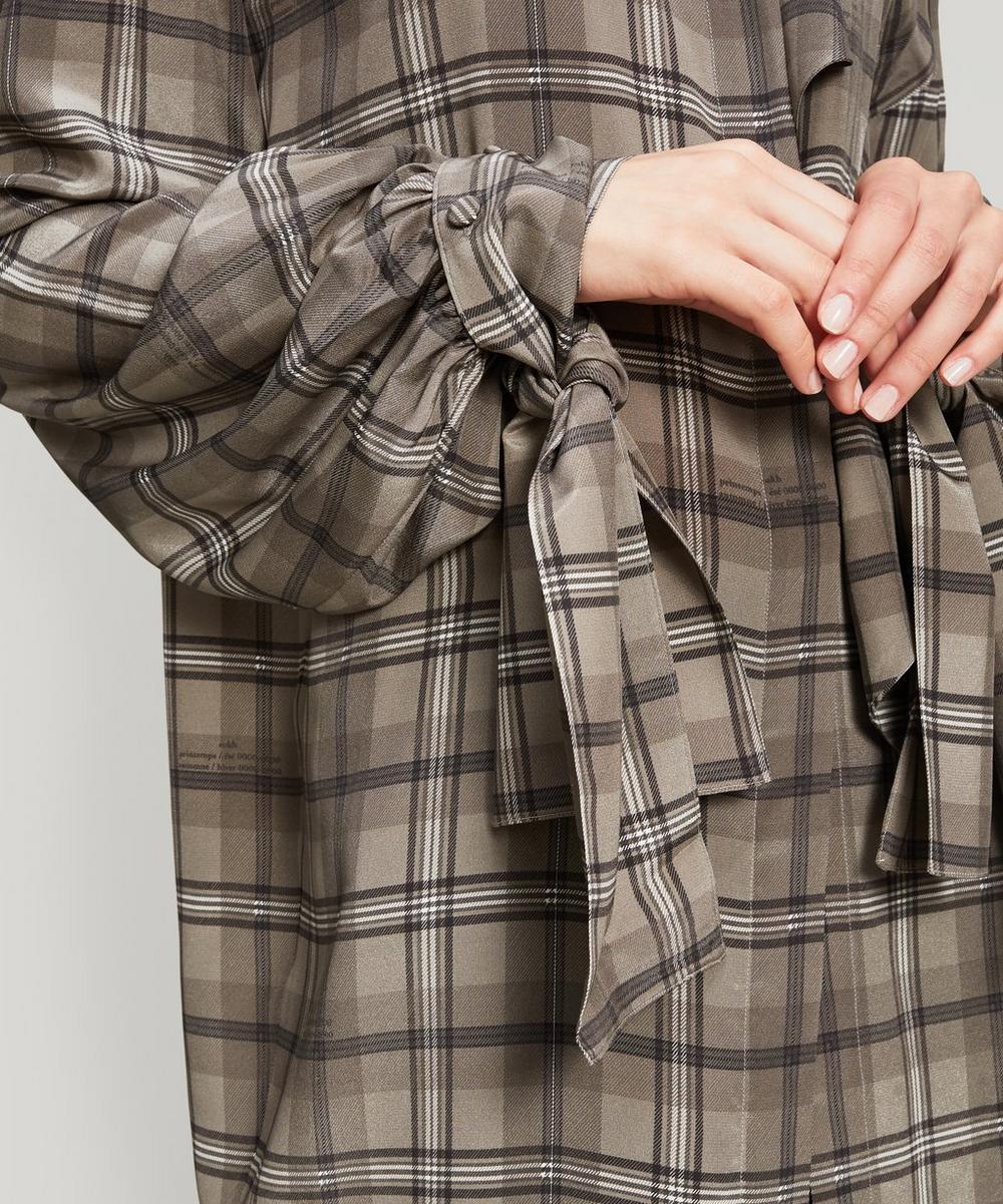 Draped Cuff Silk Blouse