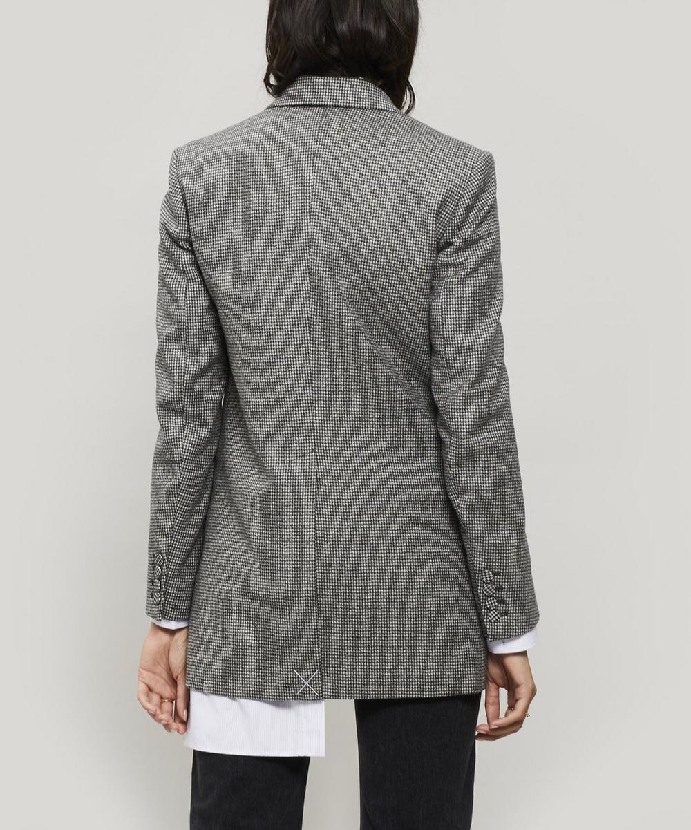 Puppytooth Wool-Blend Blazer