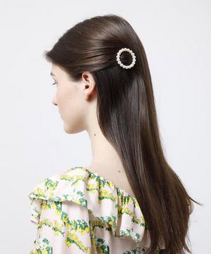 Albia Faux Pearl Beaded Barrette Hair Clip