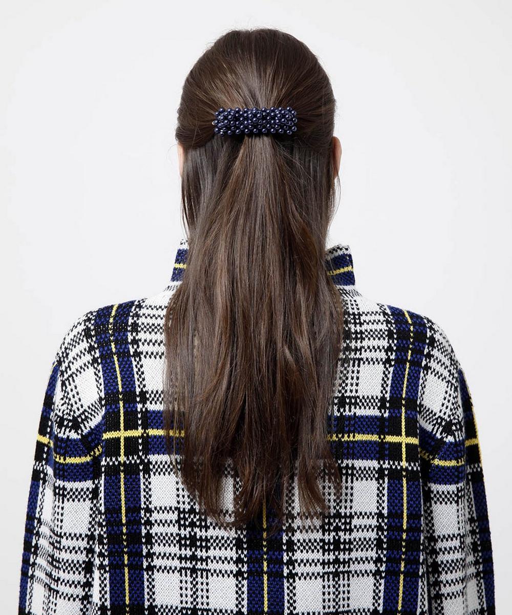 Antonia Faux Pearl Beaded Barrette Hair Clip