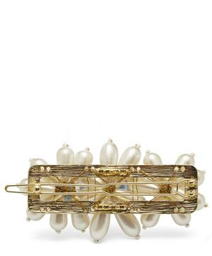 Ina Faux Pearl Floral Beaded Barrette Hair Clip