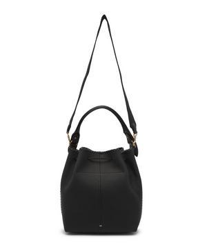 Neeson Drawstring Woven Leather Bucket Bag