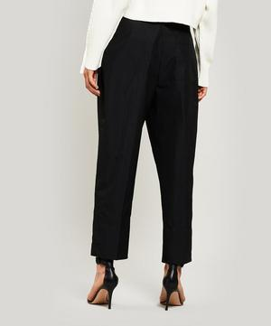 Belted Overlap Tapered Trousers