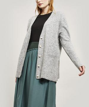 Pearl Button Wool-Blend Cardigan