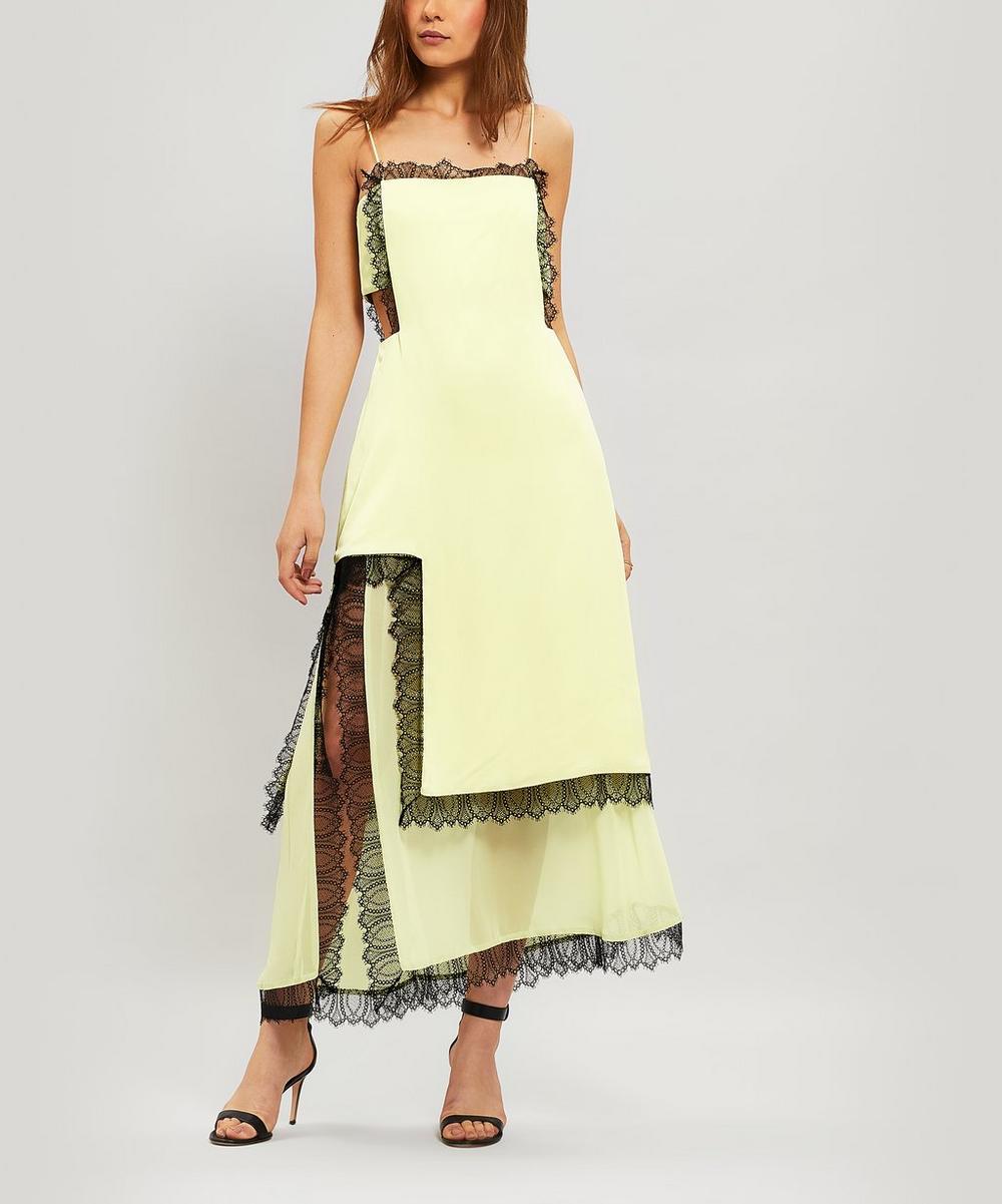 Lace-Trim Cut-Out Slip Dress