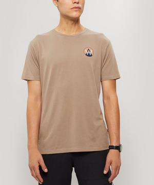 Patch Logo Print Cotton T-Shirt