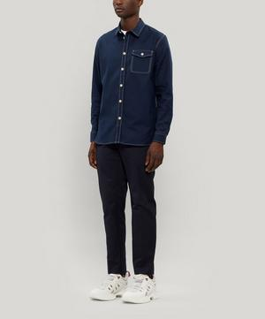 Aske Contrast Stitch Organic Cotton Shirt