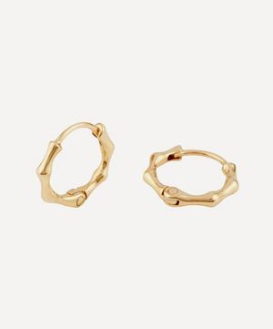 10ct Gold Bamboo Mini Hoop Earrings