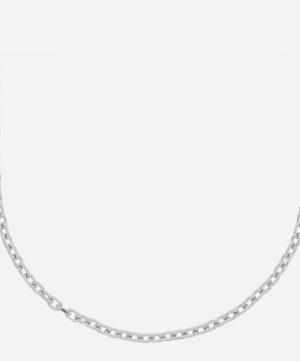 Anchor Link Polished Silver Necklace