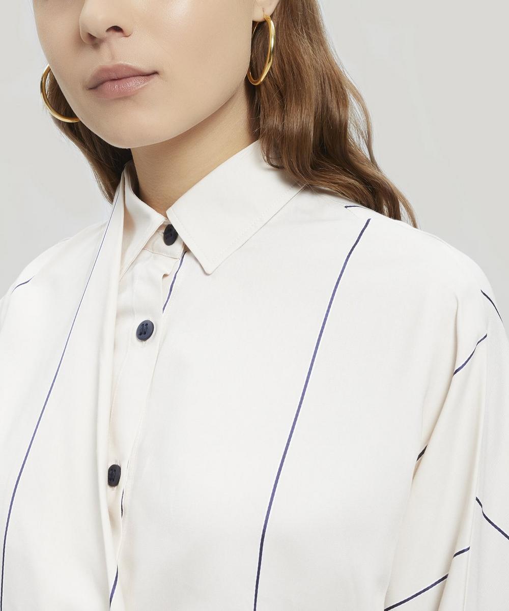 Mirror Thin Stripe Elasticated Waist Shirt