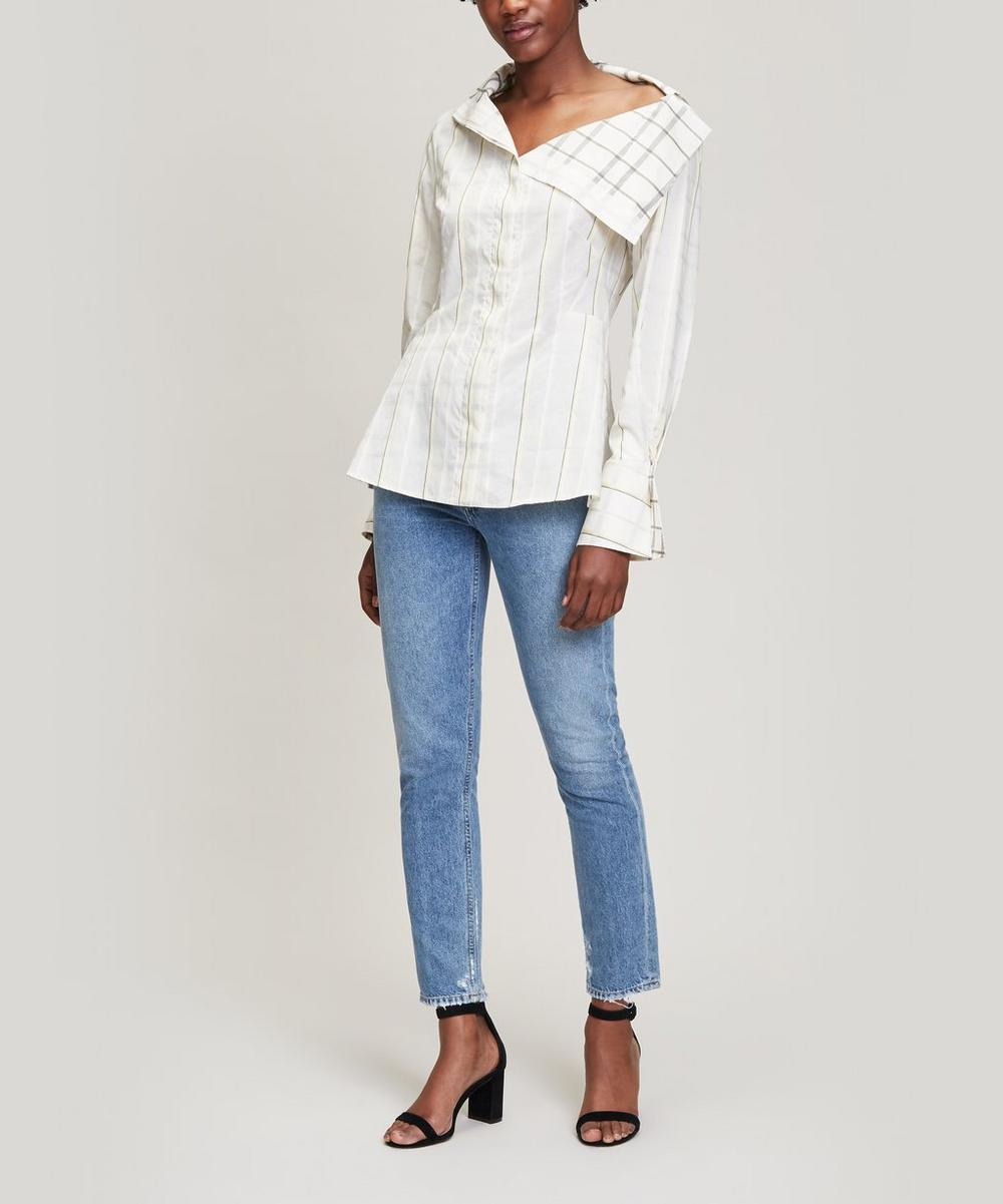 Shift Double-Faced Stripe Shirt