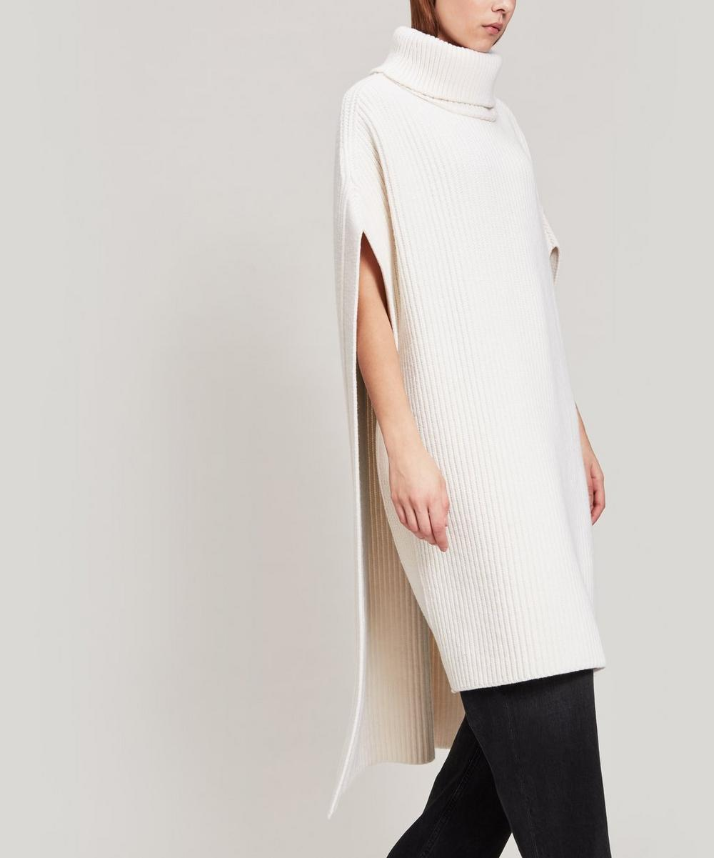 Joseph Cote Anglaise Knit Poncho In Cream