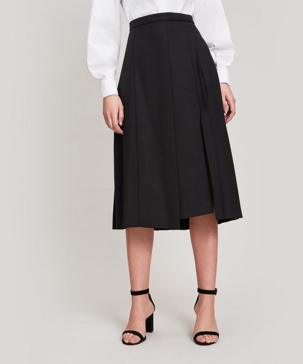 Joseph Malvyn Wool-Blend Pleated Skirt In Cream