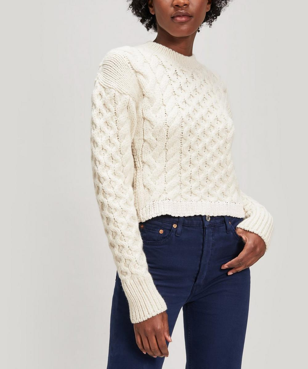 Joseph Knits CABLE-KNIT ROUND-NECK JUMPER