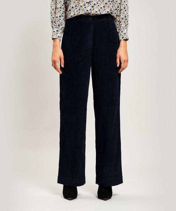 1de388e3e0ef88 Long Wide-Leg Cord Trousers ...