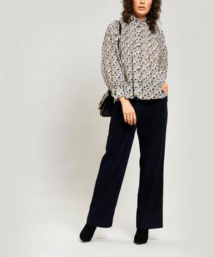 Long Wide-Leg Cord Trousers