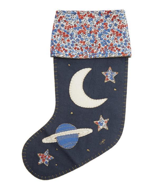 Galaxy Appliqué Festive Stocking