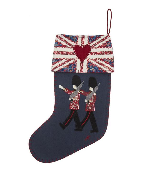 Marching Guards Appliqué Festive Stocking