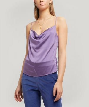 Benve Draped Silk Top