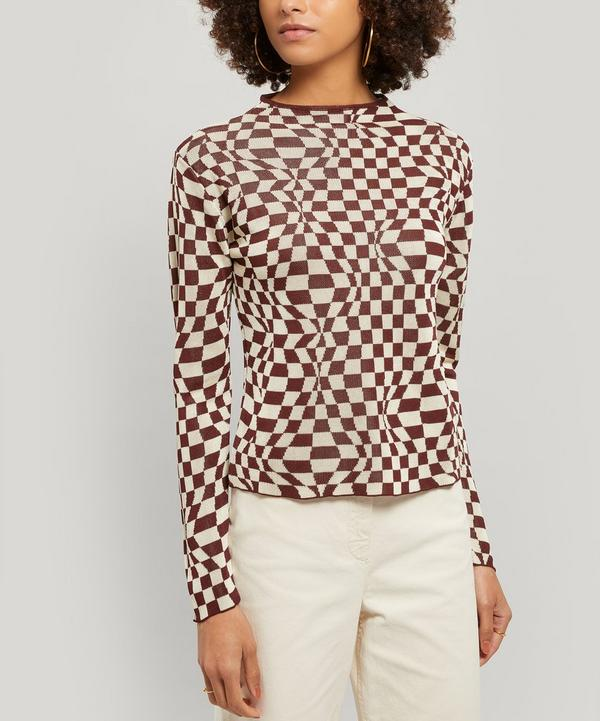 Flow Knitted Psychedelic Print Top