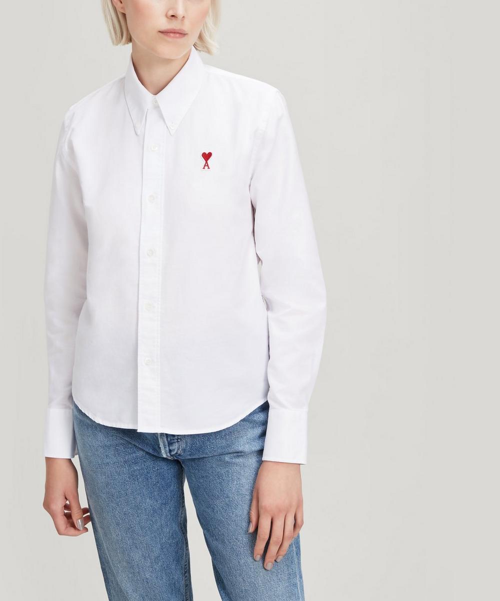 Ami Alexandre Mattiussi T-shirts AMI DE COEUR COTTON OXFORD SHIRT
