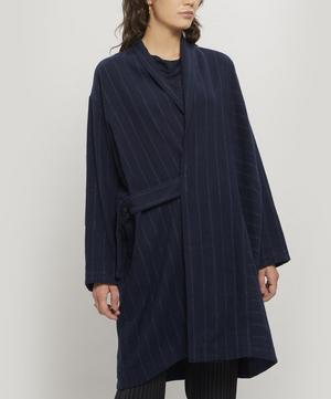 Pinstripe Linen-Cotton Coat