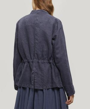 Half-Button Faded Linen Jacket