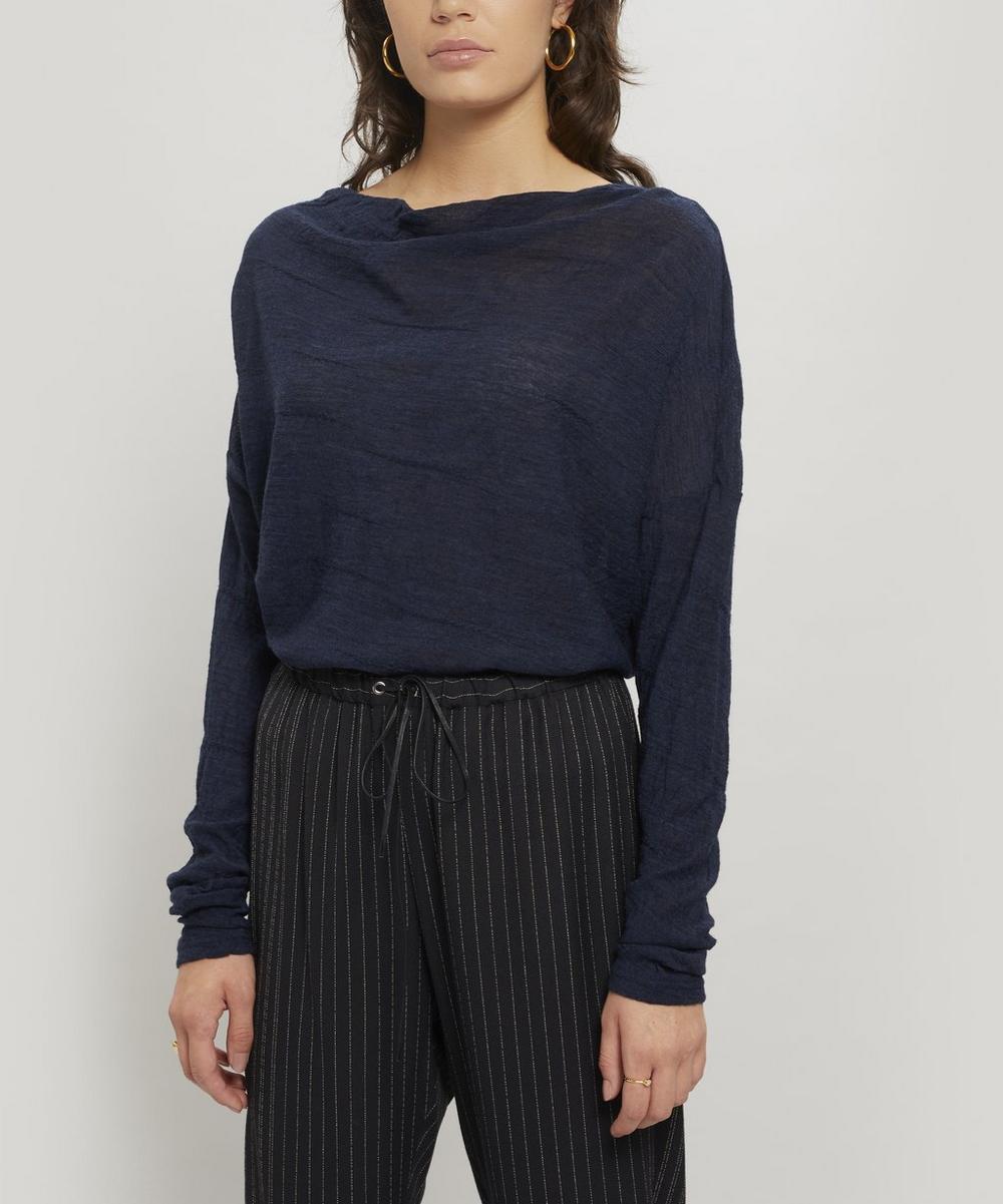 Wide-Neck Wool Jumper