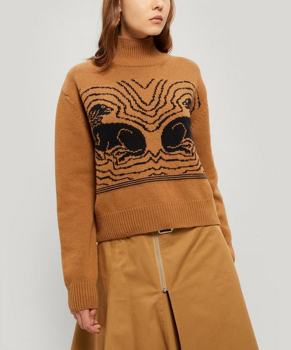 Hounds Of Love Jacquard Wool Jumper