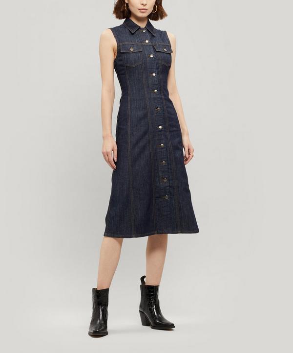 Button Through Denim Dress